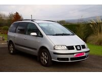 2002 Seat Alhambra 7 seater with full YEAR MOT.
