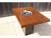 Korean Roaster gas BBQ Table from a Restaurant