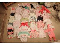 Baby girl clothes bundle Newborn – 3 months (60+ items) (collection only)