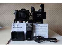 Fuji X-T1 Camera Body - Fuji Leather case - Fuji Long Eyecup and kit accessories