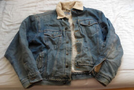 Vintage Denim Fur Jacket - Size L/ XL