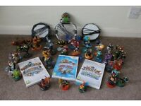 Nintendo Wii Skylander Consoles and Figures Bundle