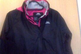 Womens Black and Pink Windproof Jacket (Small/Medium)