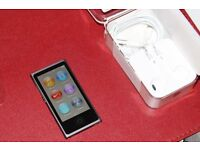 Like new - Apple iPod nano 16GB 7th Generation - Slate Space Grey with never used earpods