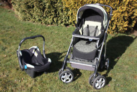 Silver Cross Linear Freeway Pram Travel System 3 In 1 (Chassis, Pushchair Body, Ventura Car Seat)