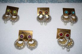 HEAVY METAL AND PEARL EARRINGS FOR JUST £7 PICK ANY FROM 5 COLORS