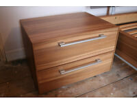 2 Wood Effect Bedside Tables (Priced For The Pair)