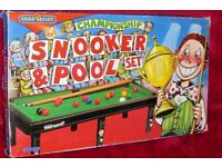 Vintage Chad Valley Children's Mini Championship Snooker & Pool Set /Game /Toy, All Complete, Histon