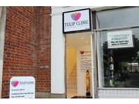 Tulip Clinic: professional massage therapy in spacious and relaxing surroundings in WGC town centre