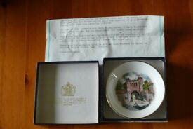 Royal Worcester coaster specially commisioned.