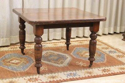 TAVOLO DA PRANZO ANTICO ALLUNGABILE IN LEGNO VINTAGE ENGLISH DINING TABLE