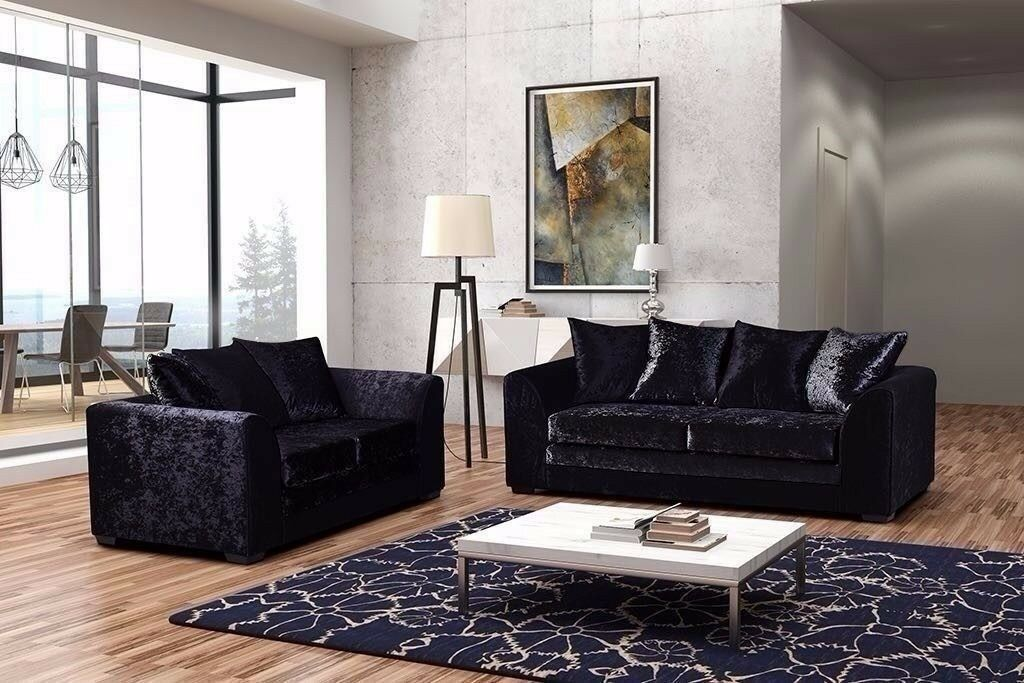 🛑🛑BRAND NEW CRUSHED VELVET FABRIC-🛑🛑-- BRAND NEW DYLAN CORNER AND 3+2 SEATER SOFA SUITE