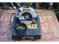 DEWALT DW62. 184 mm circular saw.