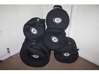 "FOUR Protection Racket Drum Kit Cases 12""/13""/16"" Tom + 20"" Bass (X 24"" deep) from £25"