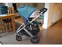 Uppababy (Uppa baby) Vista pushchair / pram (and carry cot) in green - 2013 model