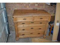 Antique pine kitchen drawers