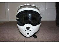 Motocross helmet boots and goggles