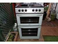 BELLING CERAMIC ELECTRIC COOKER 55 CM DOUBLE OVEN LIKE NEW