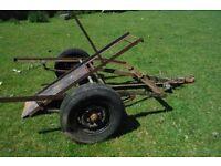 Vintage Bradley Motor cycle carriage trailer