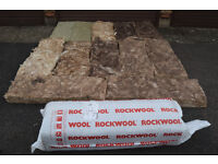 Rockwool insulation 1 brand new roll and 12 used sheets £10 CB1 collect camper shed loft garage