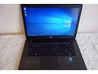 HP ZBOOK G2 Gaming Graphics Design Laptop, i7, 16GB RAM, 256GB SSD, Back Lit Keyboard