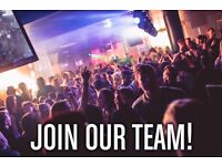 Bar & Club Revenge hiring bar staff, glass collectors & shot boys & girls