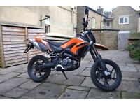 KSR TW 125 MOTORCYCLE - LOW MILEAGE WITH WARRANTY