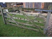 Wooden gates farm style with furniture