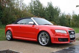 2007 Audi RS4 Cabriolet 4.2 Quattro 2dr MANUAL, V8, HUGE SPEC, TUNED, LOW MILEAGE, WARRANTY, PX POSS