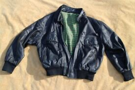 HUGO BOSS LEATHER JACKET SIZE XL 44 CHEST APPROX