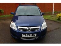FROM £30 PER WEEK 2009 VAUXHALL ZAFIRA 7 SEATER 1.7 DIESEL AUTOMATIC BLUE FULL SERVICE HISTORY
