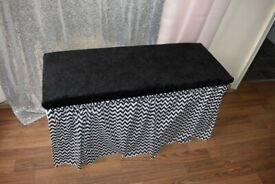 shoe storage cabinet seat bench with cushion + glass umbrella stand + umbrella
