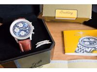 Breitling Old Navitimer A13322 Watch Box Bakelite Case Tag Manual COSC Certificate Lovely Condition