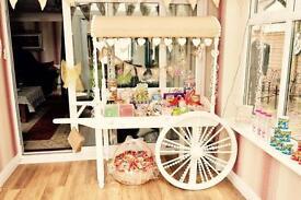 Gorgeous handmade wooden candy cart