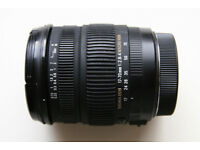 Sigma DC 17-70mm 1:2.8-4 Macro OS HSM lens, Canon mount, with hood