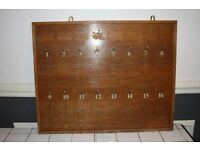 Antique Nostalgia Hotel Key Board / Key Rack For A Grand Hotel 1 - 16