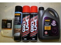 5 Car and Bike Accessories all for £6 ( GT-85 spray, De-Icer Spray, Demister Pad, Screenwash )