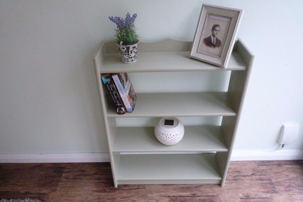 Beautiful Upcycled Pine Shelf Unit, Painted in Farrow & Ball French Gray (greeny grey)