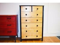 Pine - Black Chest of Drawers