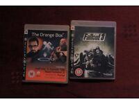 ps3 playstation games bundles: fallout 3, the orange box - half life 2, team fortress 2, portal