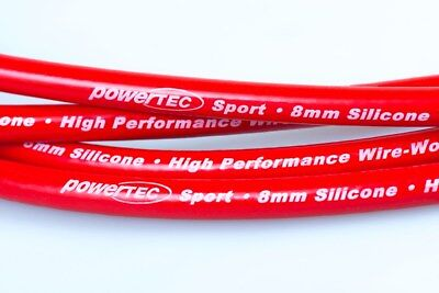 PowerTEC Sport 8mm HT Leads Wires Cables Nissan Figaro 1.0 Turbo FK10 MA10ET 91-
