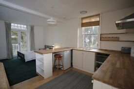 Spacious bright studio flat w/ balcony in shared family house, Queens Park Brighton, bills included