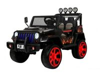 Wrangler 4 wheel drive 12 volt (black flame) electric ride on jeep (new)