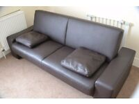 3 Person Faux Leather Sofa bed