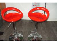 Breakfast bar stools .2 Red.