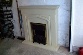 Fire place (free standing) and mantel place shelf