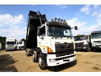 2008 HINO 700 3241 8X4 EURO 4 STEEL BODY TIPEPR TRUCK THOMPSONS BODY FOR SALE SVCANIA VOLVO TIPPER