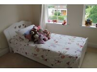 Girls Single Bed with Hearts
