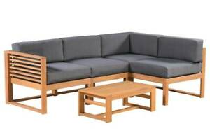 TEAK FINISH OUTDOOR FURNITURE SETTING MONACO