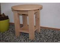 Round Side Table - 100% SOLID OAK was £235 NOW £55